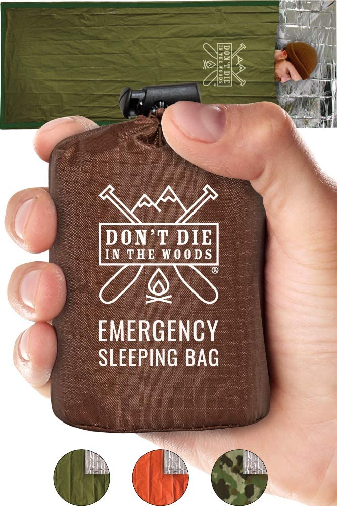 Emergency Sleeping Bag With Hood By The Woods Store